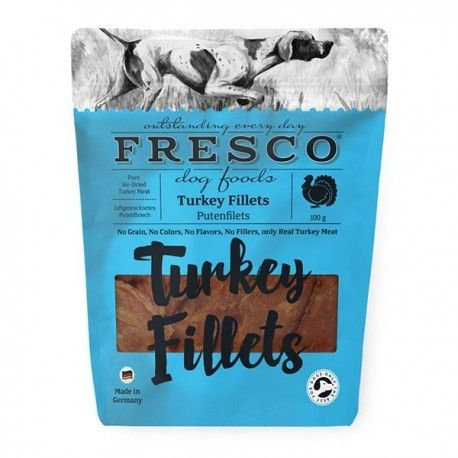 Skanėstas šunims Turkey Fillets Fresco kalakutienos file, 100 g