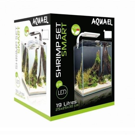 Shrimp Set Smart Black akvariumas su įranga