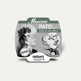 Retorn Dog Mousse Duck With Krill Pearls konservai šunims, 100 g