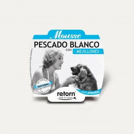 Retorn Dog Mousse White Fish With Mussels konservai šunims, 100 g