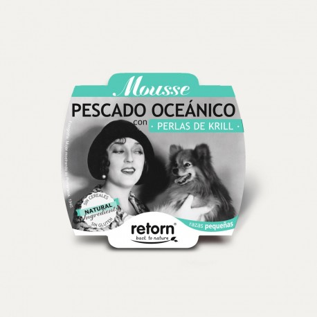 Retorn Dog Mousse Ocean Fish With Krill Pearls konservai šunims, 100 g