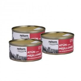 Retorn Cat Can Tuna With Mussels konservai katėms, 3x80 g