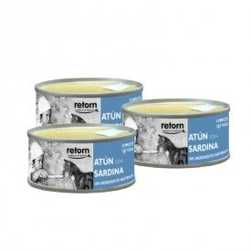 Retorn Cat Can Tuna With Sardine konservai katėms, 3x80 g