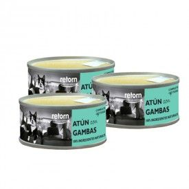 Retorn Cat Can Tuna With Shrimps konservai katėms, 3x80 g