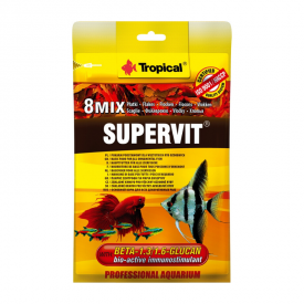 Maistas žuvims su Beta-gliukanu Tropical Supervit, 12 g