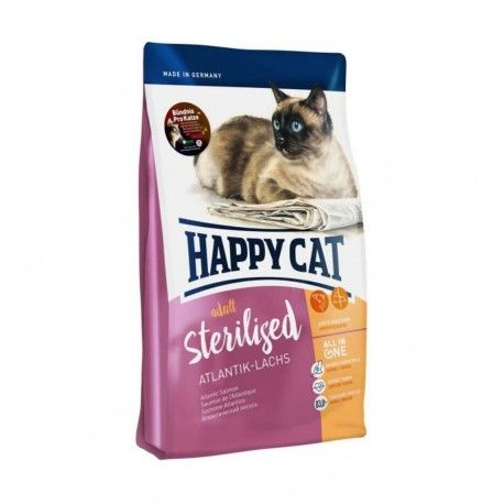 Happy Cat Adult Sterilised Atlantik Lachs pašaras suaugusioms sterilizuotoms katėms su lašiša, 10 kg Happy Cat  - 1