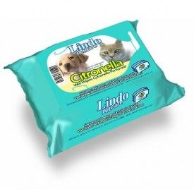 Servetėlės LindoPet care wet wipes Citronella