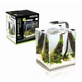 Aquael Shrimp Set Smart White akvariumas su įranga krevetėms