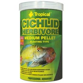 Tropical Cichlid Herbivore Medium Pellet pašaras ciklidams 1000 ml