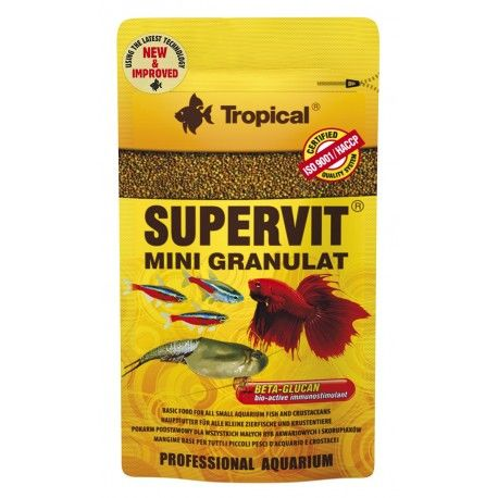 Tropical Supervit Mini Granulat pašaras žuvims 10 g