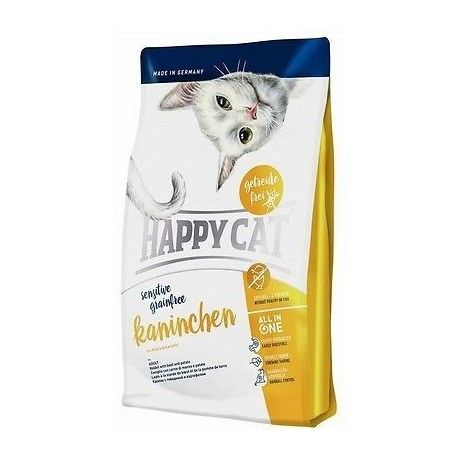 Happy Cat Sensitive Grainfree Kaninchen pašaras suaugusioms katėms su triušiena, 300 g Happy Cat  - 1